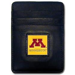 NCAA Minnesota Golden Gophers Leather Money Clip/Cardholder