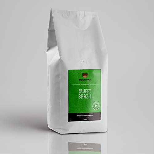 Caffè in chicchi interi Sweet Brazil di Brown Bear a tostatura medio-chiara da 1 kg