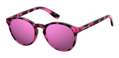 Polaroid pld 8024/s ai c4b, occhiali da sole unisex-bambini, rosa (hvn fuchsia/grey pink grey speckled pz), 47