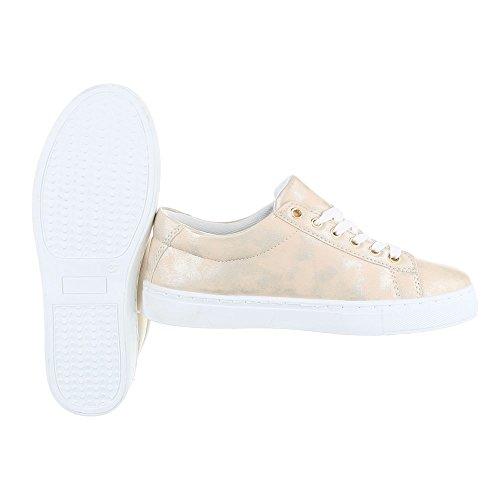 Ital-Design , chaussons d'intérieur femme Gold FC-S31
