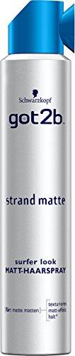 Schwarzkopf Got2b Strand Matte Surfer Look Matt-Haarspray, 3er Pack (3 x 200 ml)