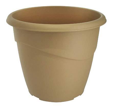 Eda - Pot et soucoupe Marina / Pot - Taupe - 35 x 29,5