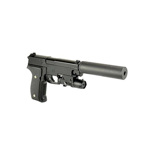 Galaxy - Pistola a molla da softair 226w, in metallo, ricarica manuale (0,4 joule)