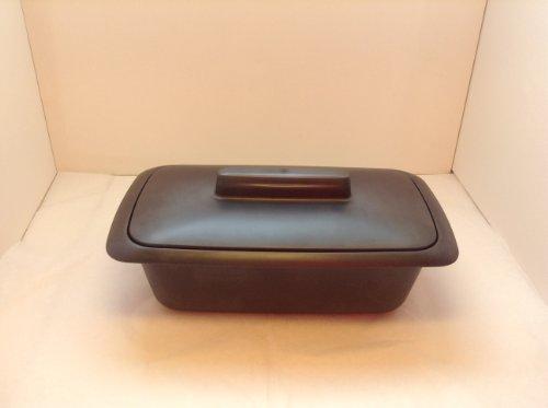 Tupperware Kastenform 1,8 L, Kunststoff, Schwarz 27.5 x 15 x 12 cm, 2-Einheiten