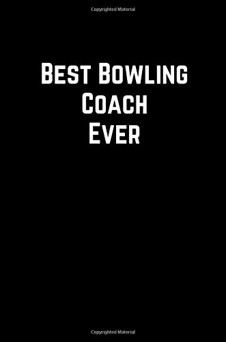 Best Bowling Coach Ever: 100 Page Lined Journal Paper Notebook for Friends & Coworkers Funny Note Taking Book | Christmas Santa Gift por MSquared Designs