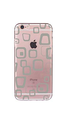 Case Cover Per iphone 6/6S Plus 5.5 pollici Trasparente TPU Gel Silicone Bumper Protettivo Skin Custodia Ultra-sottile Flessibile morbido Protettiva Shell(piuma 2) bocca