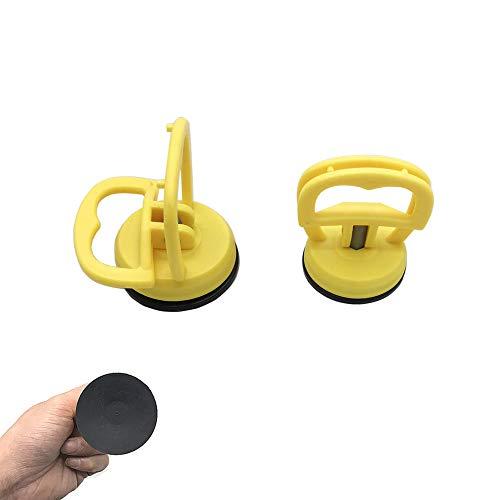 2 paquetes de 5,8 cm, extractor de ventosa para coche, herramienta de extracción, ventosa, ventosa, ventosas, ventosas, ventosa de goma, ventosa de cristal, ventosa de vacío, color amarillo