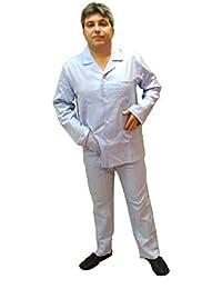 Sleepwear & Robes Guasch Man Pajamas Striped Blue/green Edge 100% Cotton Gp181 D.463 Men's Clothing