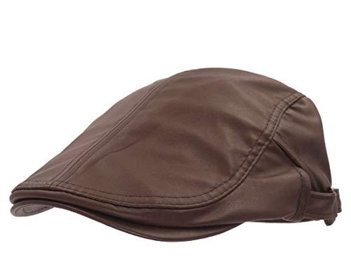 rren Und Stilvolle Baskenmütze Outdoor Damen Newsboy Herren Unikat Vintage Unifarben (Color : Braun, Size : One Size) ()