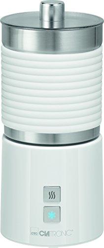 Clatronic MS Pierna espumador de leche, recipiente de acero inoxidable, cálida y fría espumar weiß