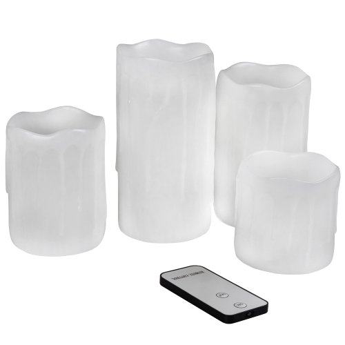 Jago - Set de 4 velas LED - cambio de color con mando a distancia