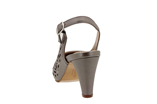 Chaussure femme confort en cuir Piesanto 2277 habillé comfortables amples Titanio