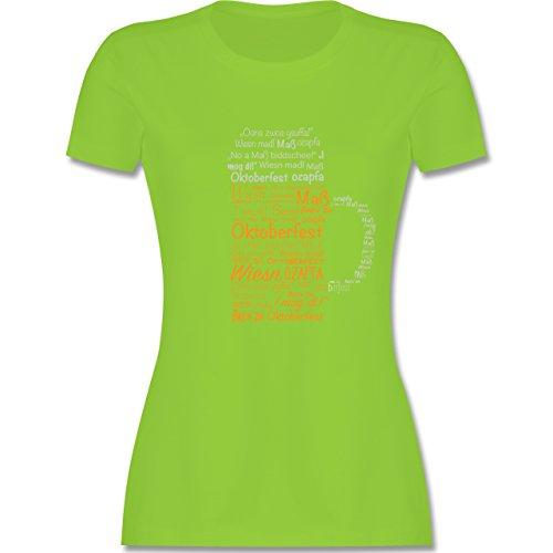 Oktoberfest Damen - Oktoberfest Maß - tailliertes Premium T-Shirt mit Rundhalsausschnitt für Damen Hellgrün