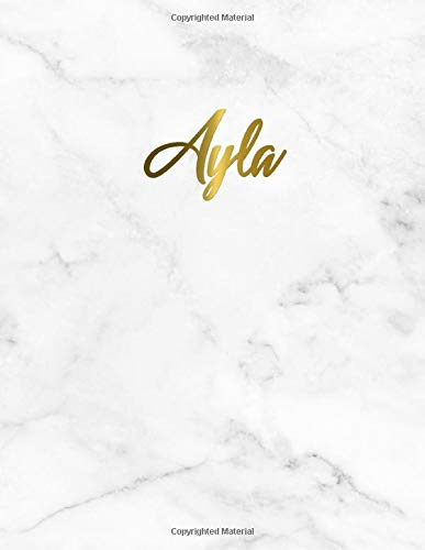 Ayla: 2020-2021 Two-Year Weekly & Monthly Planner, Agenda & Organizer | To-Do's, Inspirational Quotes, Vision Board, 20+ Notes Pages & More | Marble & Gold Personal Name Gift for Girls & Women 20 Boards