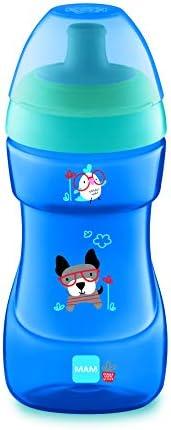 MAM Sports Cup ZEDMM224M Tazza Antigoccia per Bimbi di 12+ Mesi, 330 ml, Blu