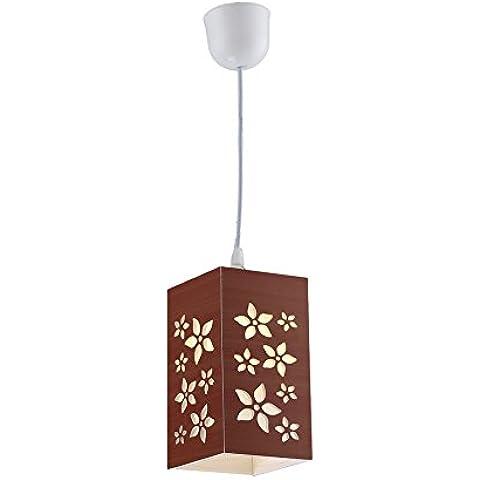 YanCui@ Soggiorno e sala/bar/sala da pranzo/camera da letto Lampadari LED mini vuotatura intaglio Lampadario creativo di prugna , brown