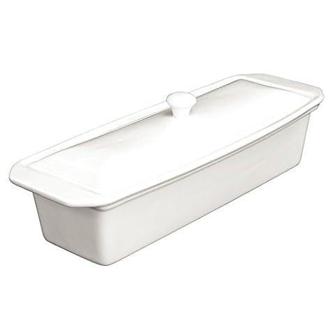 Olympia U193 Whiteware Rectangular Pate Terrine, Porcelain, 110 mm H