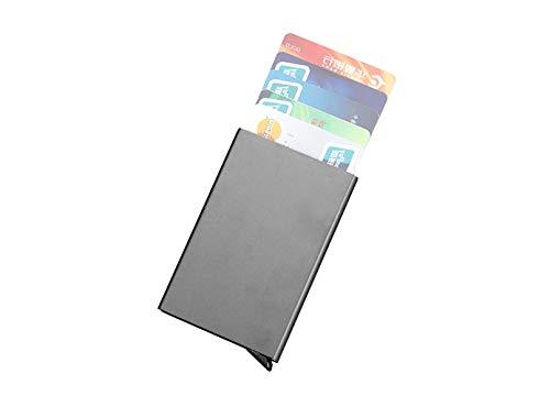 Kreditkartenetui - Kreditkartenhalter - Kreditkartenhülle - Geldbörse aus hochwertigem Metall - RFID geschützt