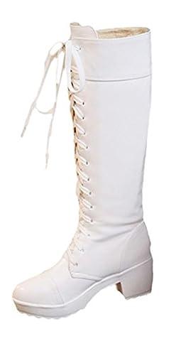 Scothen Damen Frühling Herbst Stiefel Outdoor schuhe Winter Elegant Beiläufig Schuhe Knie Stiefel Slouchy Schneestiefel Lange Stiefel Langschaft Stiefeletten Wärm Spitze Stiefel Winterstiefel Boots