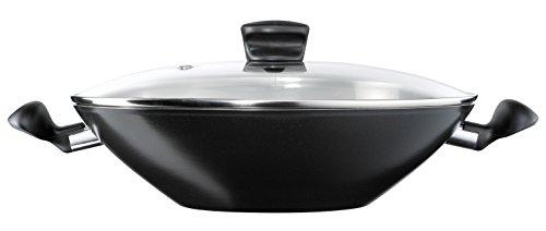 Tefal B3677502 Ideal  Wok + couvercle, En Fonte d'Aluminium, Noir, 36 cm