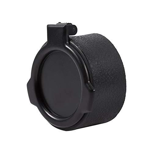 Alomejor Scope Cover Flip Lens Cap Cover Displayschutzfolie Staub Eye Scope Gewehr Flip Schutzkappe Zubehör für Airsoft Jagd Shooting, 50 mm Lens Cap Cover