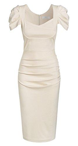 AMCO fashion   Damen 66 Perry Kleid   Beach Sand beige Gr. 36 - aus der Business Kollektion von TV Star Annett Möller (Gedeckte Farbtöne)