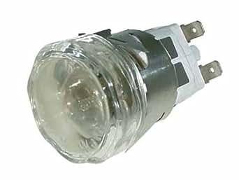 Douille + Hublot De Lampe Diam 35 M/m Référence : 93642700 Pour Rosieres