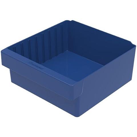 Akro-mils 31112BLU - 31112 11-5 / 8-inch l da 11-1 / 8-inch w da 4-5 / 8-inch cassetto h akro di plastica cassetto, blu, caso di 4