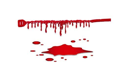 Kostüm Vampir Choker Zubehör - YYRZGW Tropft Blut Halskette gruselige Blut Tropfen Choker blutungen Choker für Frauen Halloween Vampir Cosplay kostüm zubehör-Rot