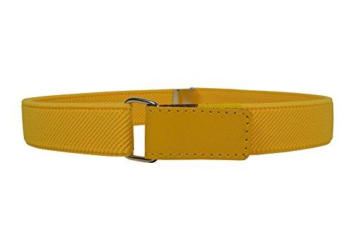 Cinturón elástico amarillo para niños/niñas 1-6 Años