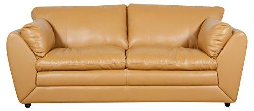 Balini Carson 3 Seater Leatherite Sofa(Beige)