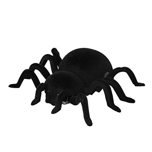 lloween Scary Toys fernwand Klettern spinne rc streich Toys Insekten Scary Trick elektronische Spielzeug - 18x15cm (schwarz) ()