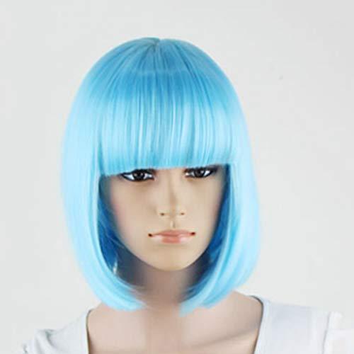 LJBOZ Kurze Glatte Haarperücke, weibliches Rollenspielhaar Synthetische Kurze Glatte Haarperücke -14.2in Perücke (Farbe : B)