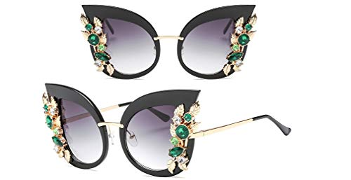 YUZHIYU Ladies Fashion Sunglasses Cat Eye HD Lenses with Case Plastic Durable Frame UV Protection Mother's Gift C1