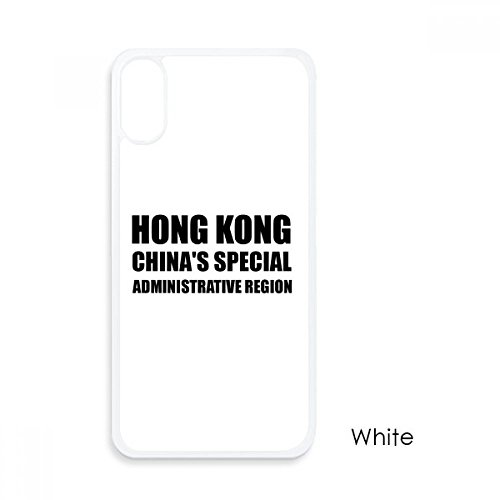 beatChong Hong Kong Región Administrativa Especial De China para El iPhone X Casos Phonecase Blanca Caso De La Cubierta De La Manzana De Regalo