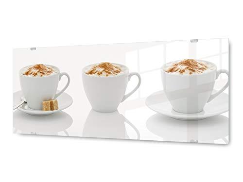 KD Dsign+ Glasbild Wandbild GLX12566927885 Tasse Kaffee 125 x 50cm / inkl. neues Aufhängesystem