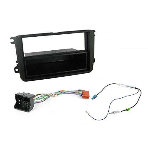 ADNAuto 45273 Kit Adaptateur Autoradio 1Din avec Vide-Poche Noir 5/ Ap02/ Ap05 + Iso + Fm-Kitfac145