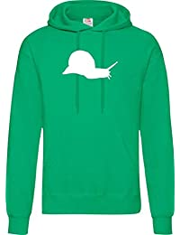 771d97b8f ShirtInstyle Hombres Capucha divertido Animales Caracol Zoo Wildniss