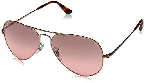 Ray-Ban Unisex-Erwachsene 0RB3689 Sonnenbrille, Schwarz (Copper), 58