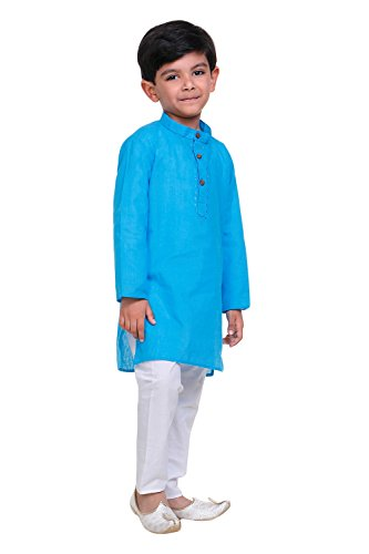 Littly-Handloom-Ethnic-Wear-Kids-Embroidered-Cotton-Kurta-Pyjama-Set-For-Baby-Boys