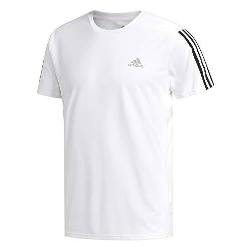 Adidas run 3s tee m, t-shirt uomo, white/black, l