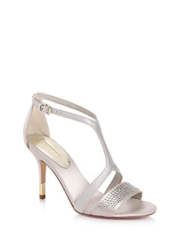 GUESS Damen Pumps Highheels Stilettos Riemchensandalen Silber (37) Guess Pumps Silber