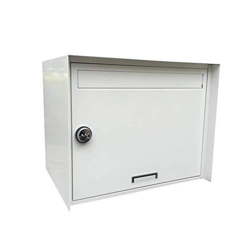 Profirst Mail PM 1050 Design Paketbriefkasten Schwarz aus verzinktem Stahlblech mit Zylinderschloss und Schutzklappe