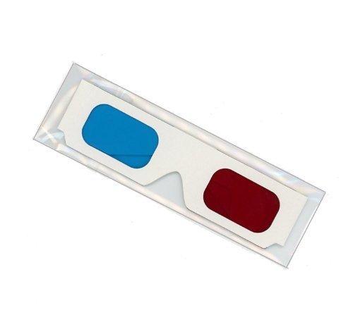 snowwer 10Paar Rot/Cyan Karton 3D-Brille