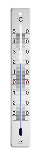 TFA Dostmann Analoges Innen-Außen-Thermometer aus Edelstahl, glänzend