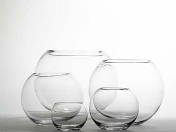 Glass Fishbowl Vase (10cm x 7.5cm) 2