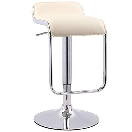 Esszimmer Rattan Bar Hocker (MXXYZ Klappsessel klappstühle Barhocker Home Retro-Rezeption Rückenlehne Hocker kann gedreht Werden Lift Kreative Esszimmer Bar Stuhl (Color : H))