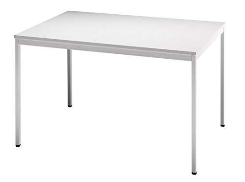 Besprechungstisch V-Serie DR-Büro - Maße 120 x 80 cm - erweiterbares Tischsystem grau - Tischfuß und Rahmen eckig - Meetingtisch Höhe einstellbar...