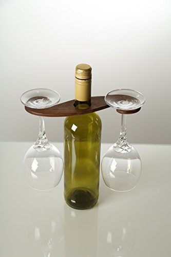 Weinglas Halter, Aufhängung, aus massiven Holz (Nussbaum)