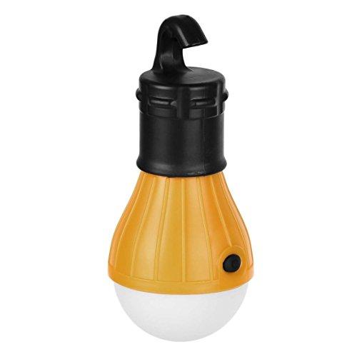(Oyamihin 1 pc Weiches Licht Praktische Hängenden 3 LED-Licht Outdoor Camping Zelt Laterne Angeln Glühbirne Lampe Weißes Licht)